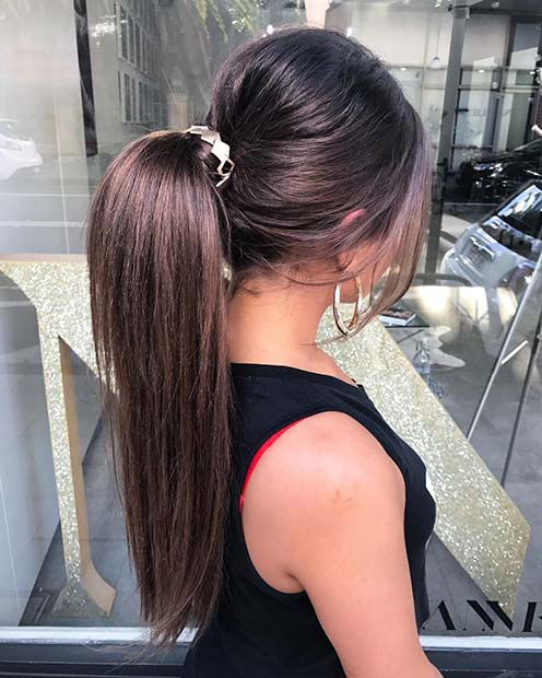 Accessorized Ponytail for Elegant Ponytail Hairstyles