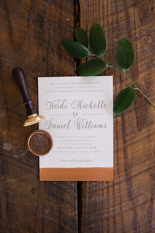 Rustic wedding invitations | Sweet Roots Photography