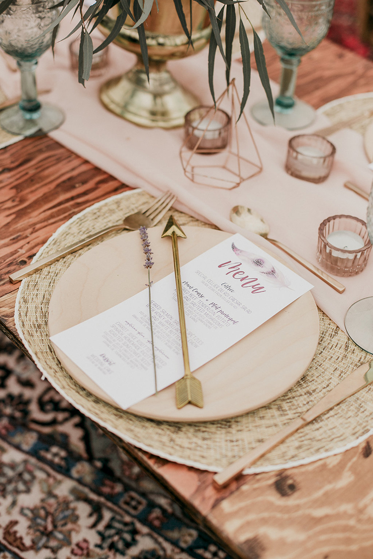 boho wedding tablescapes - photo by Sarah White Photography http://ruffledblog.com/boho-bridal-shower-inspiration-for-your-bride-tribe
