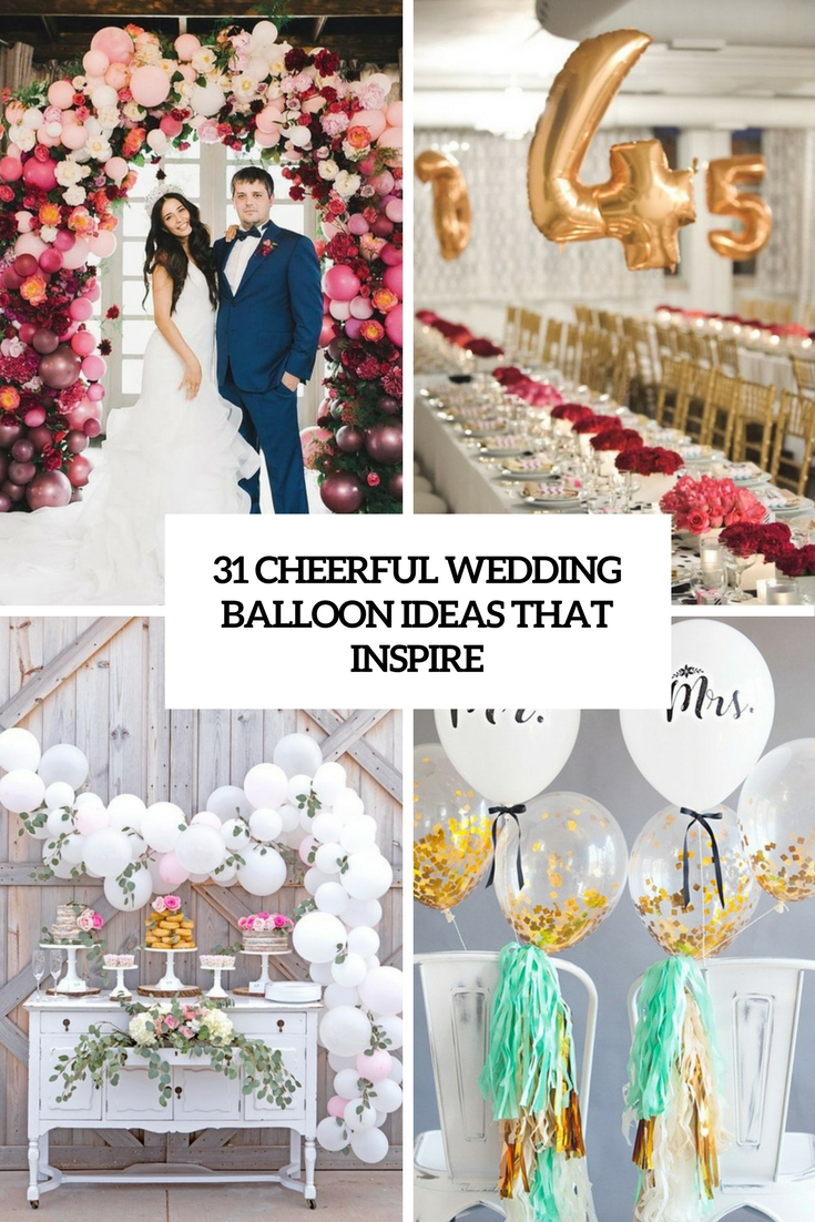 cheerful wedding balloon ideas that inspire cover