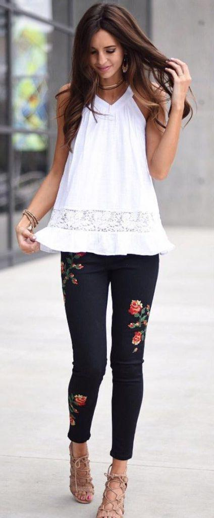 Embroidered Jeans for Girls (15)