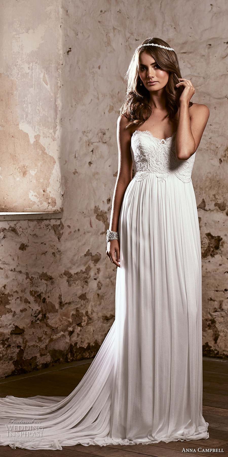anna campbell 2018 bridal strapless sweetheart neckline heavily embellished bodice romantic soft a line wedding dress open back sweep train (16) mv