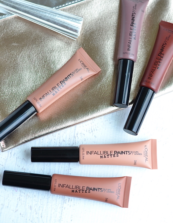Lightweight, well-pigmented and non-drying, L'Oreal Paris Infallible Matte Lip Paints are a drugstore delight! These nude liquid lipsticks have a comfortable velvety matte finish that won't leave your lips dry. Click through to see the review and swatches of all shades!