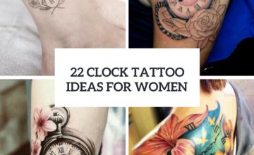 Cute Clock Tattoo Ideas For Women