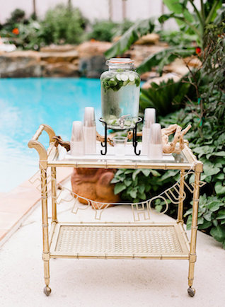 Cucumber water station | Leighanne Herr Photography
