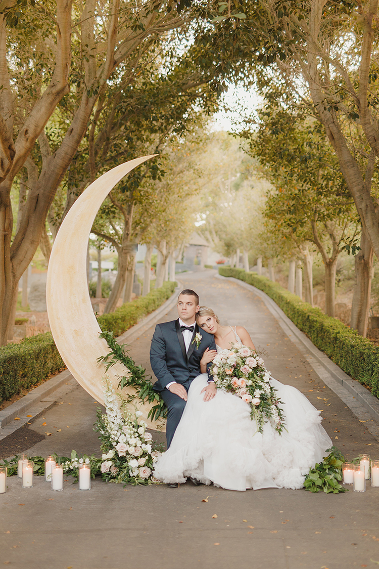 Majestic Castle Wedding Inspiration with Celestial Accents - photo by Kristen Booth Photographer http://ruffledblog.com/majestic-castle-wedding-inspiration-with-celestial-accents