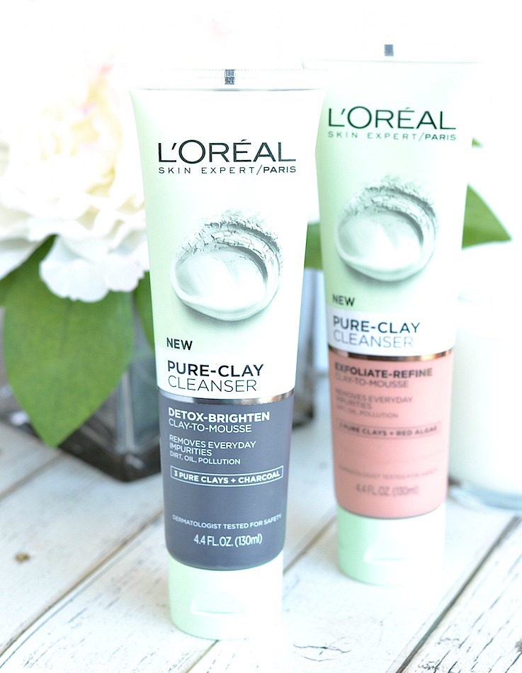 Loved L'Oreal Pure Clay masks? You will also love the new L'Oreal Pure-Clay cleansers! These are a drugstore face wash well done!
