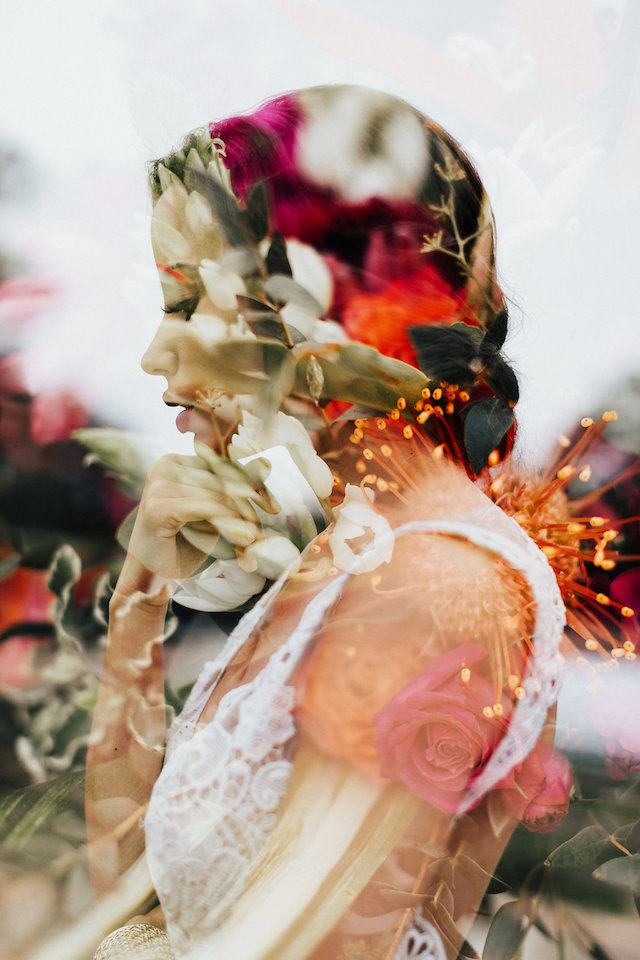 Double exposure wedding photo | Leighanne Herr Photography