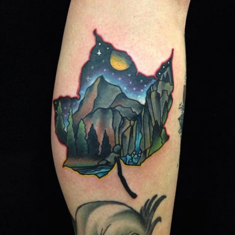 Gorgeous nature tattoo