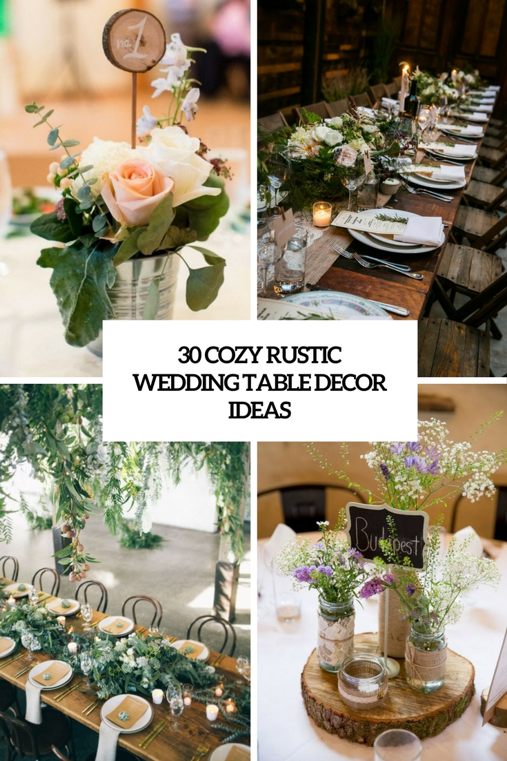 cozy rustic wedding table decor ideas cover