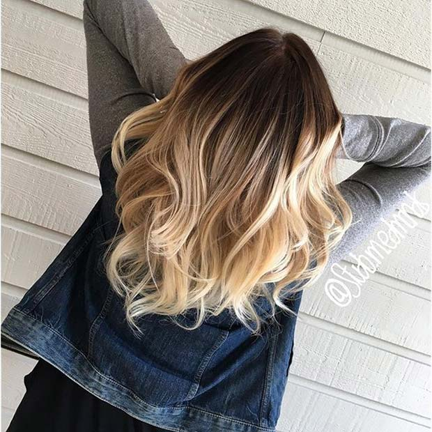 Blonde Ombre Idea for Brunette Hair