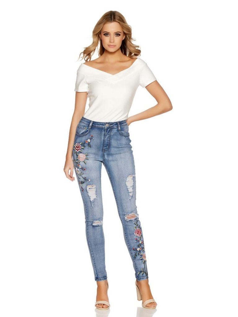 Embroidered Jeans for Girls (6)