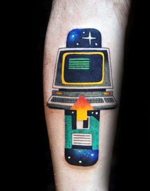Cool idea of computer tattoo