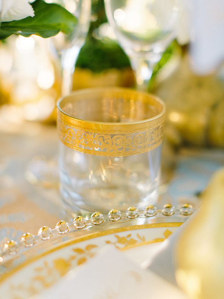 gold wedding details - photo by Facibeni Fotografia http://ruffledblog.com/golden-sunset-wedding-inspiration-overlooking-tuscan-hills