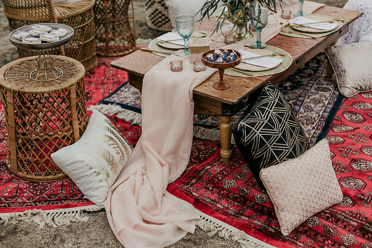 bohemian bridal shower ideas - photo by Sarah White Photography http://ruffledblog.com/boho-bridal-shower-inspiration-for-your-bride-tribe