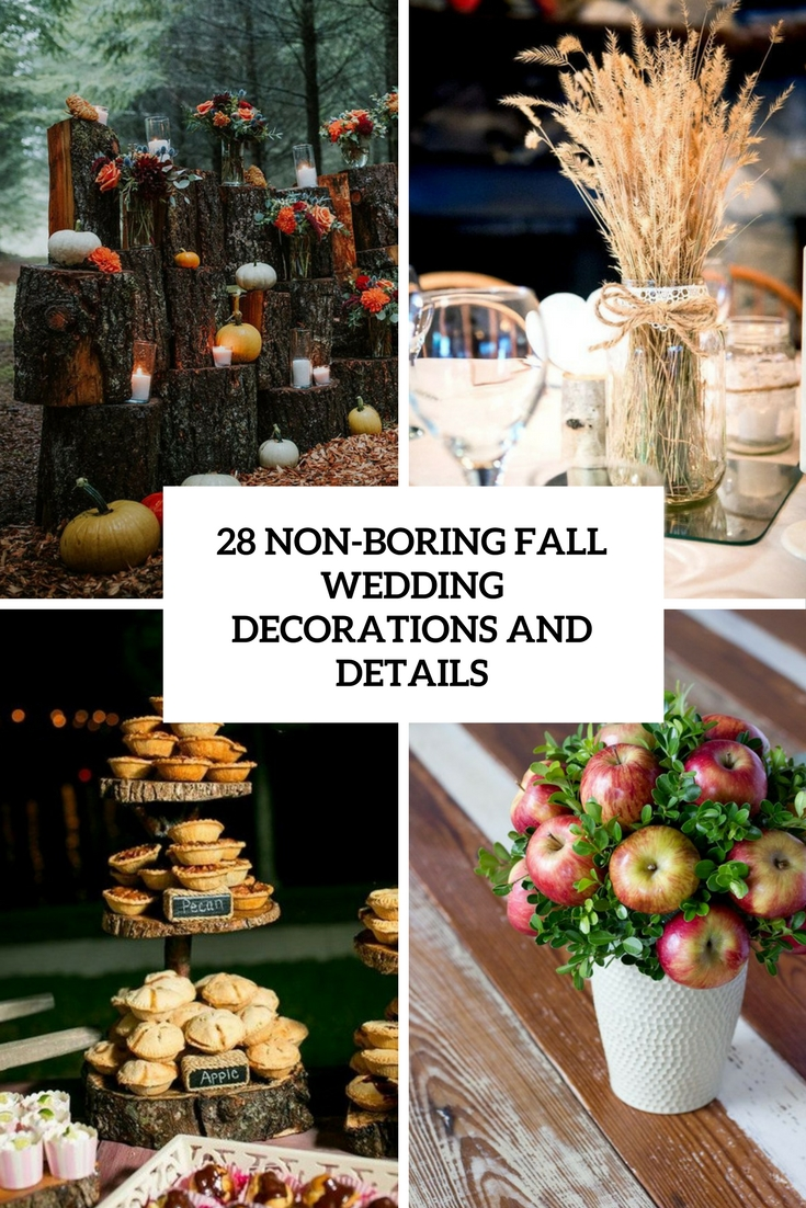 non boring fall wedding decorations and details cover