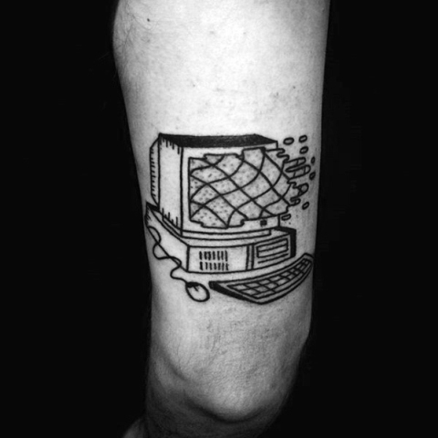 Simple computer tattoo