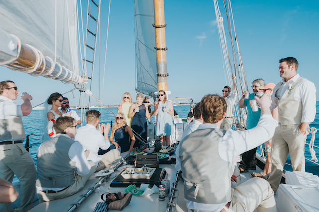 Key West sailboat wedding | Foto by Freas