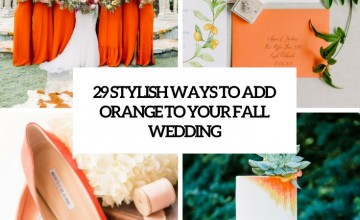 stylish ways to add orange to your fall wedding cover