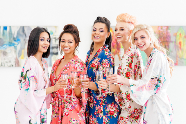 Silk bridesmaids robes | Ashley Kidder Photo