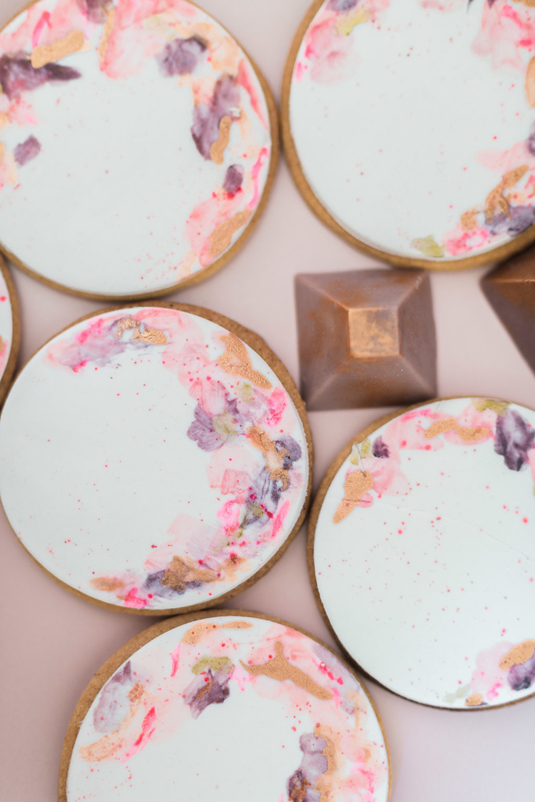 modern wedding cookies - photo by Studio Brown http://ruffledblog.com/industrial-wedding-shoot-in-dublin-with-serious-romantic-vibes