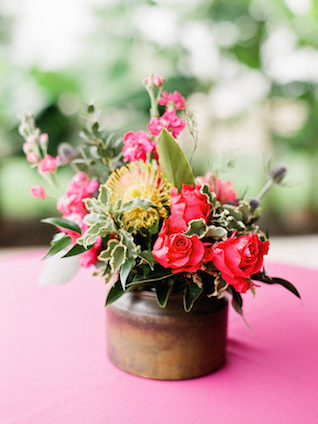 Tropical centerpieces | Leighanne Herr Photography