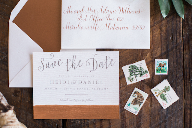 Rustic wedding invitation | Sweet Roots Photography