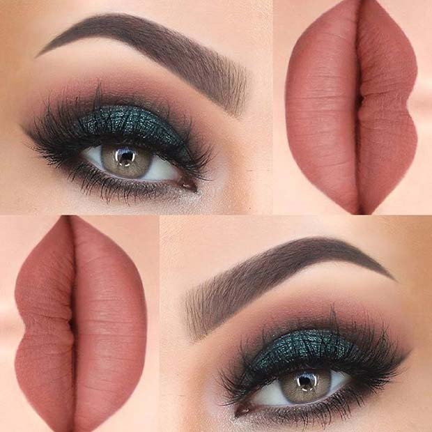 Dramatic Dark Green for Summer Makeup Ideas