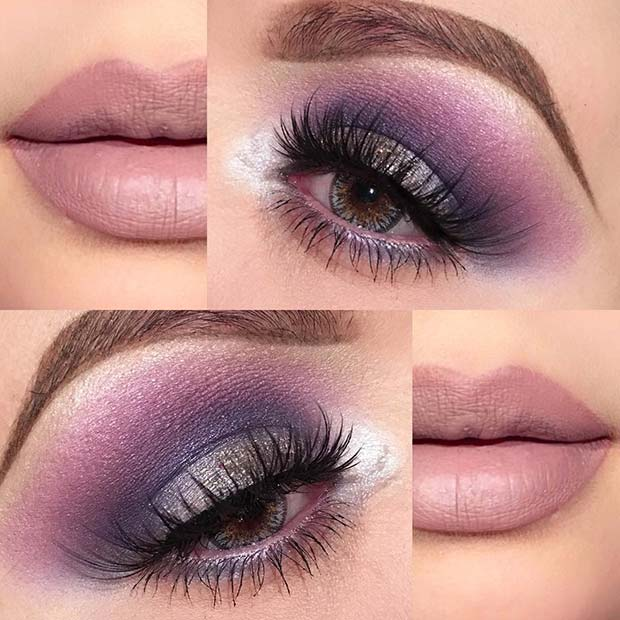 Multi Purple Shade Eye Shadow for Summer Makeup Ideas