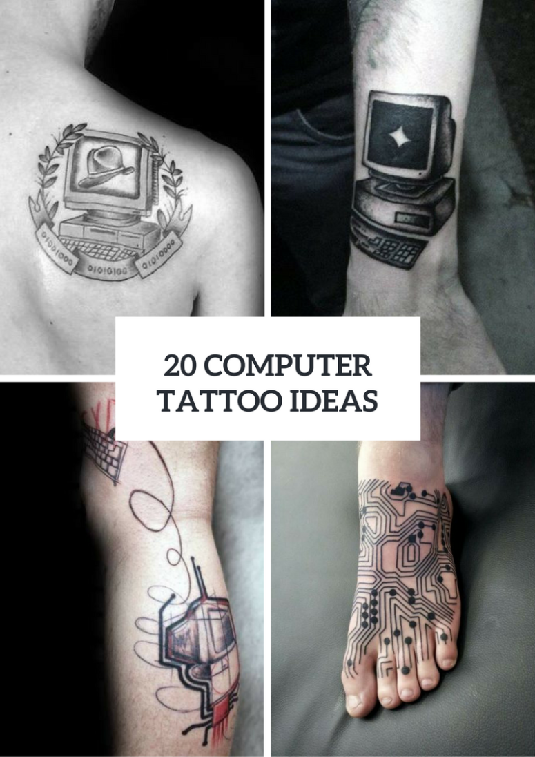 Men Computer Tattoo Ideas To Repeat