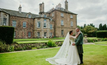 This Scottish wedding in Gimerton house was cozy and intimate and with traditions included