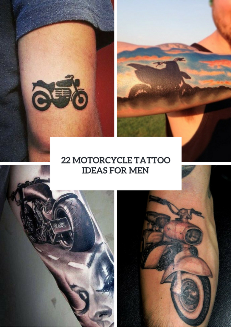 Men Motorcycle Tattoo Ideas To Repeat