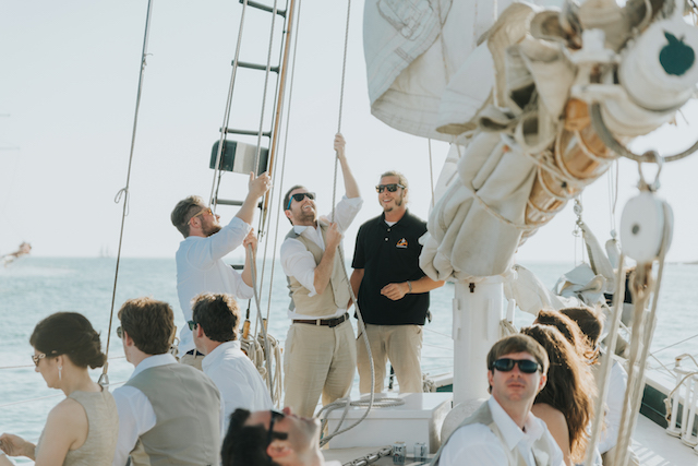 Sailboat wedding | Foto by Freas