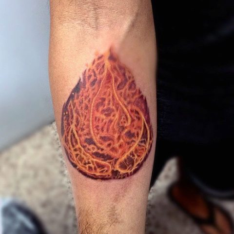 Simple flame tattoo