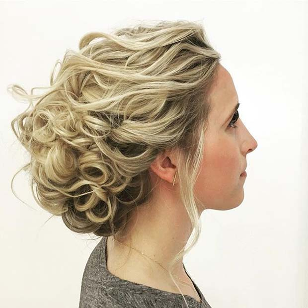 Curled Updo for Bridesmaid Hair Ideas