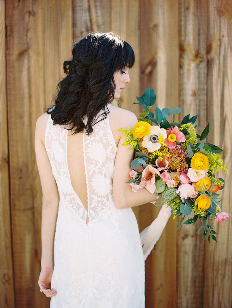 summer wedding dresses - photo by Charla Storey Photography http://ruffledblog.com/summer-loving-wedding-inspiration-with-a-fiesta-brunch
