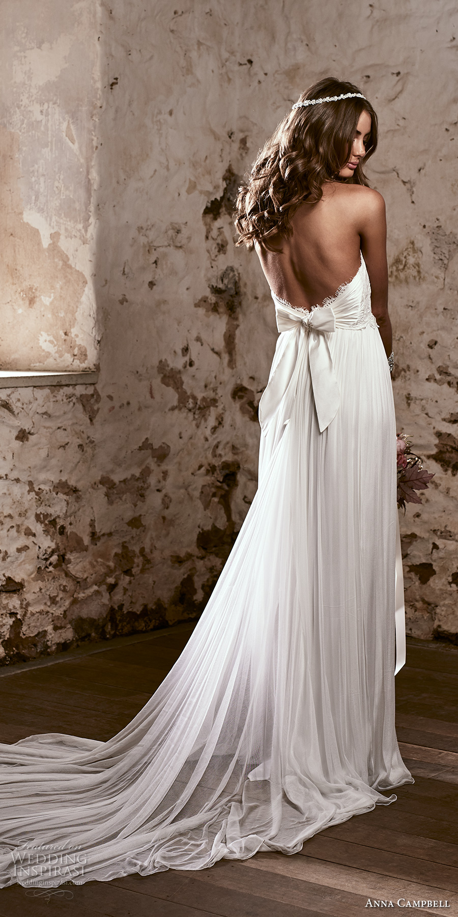 anna campbell 2018 bridal strapless sweetheart neckline heavily embellished bodice romantic soft a line wedding dress open back sweep train (16) bv
