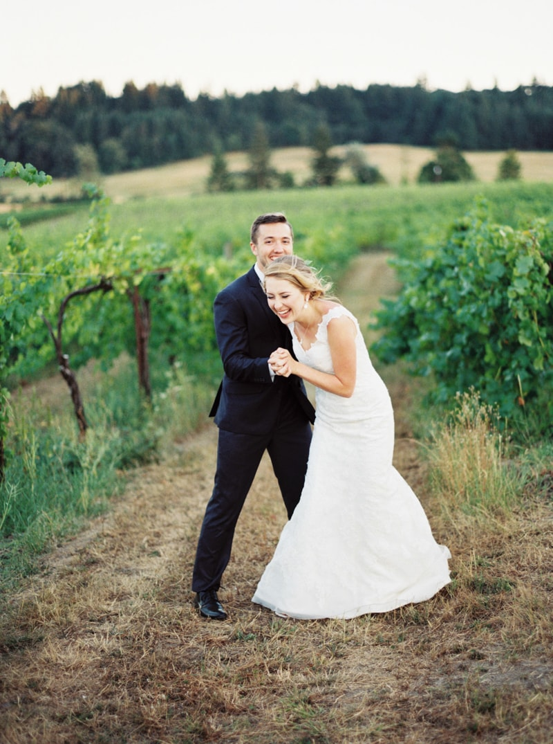 Zenith Vineyard Oregon Wedding