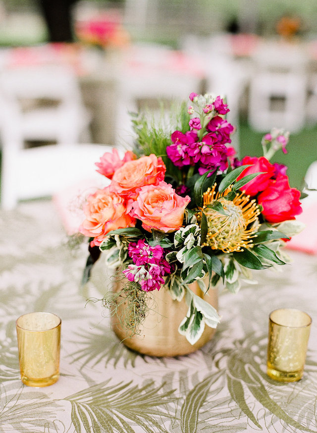 Tropical centerpiece | Leighanne Herr Photography