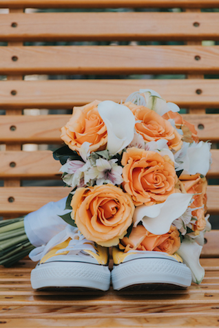 Peach rose bridal bouquet | Foto by Freas