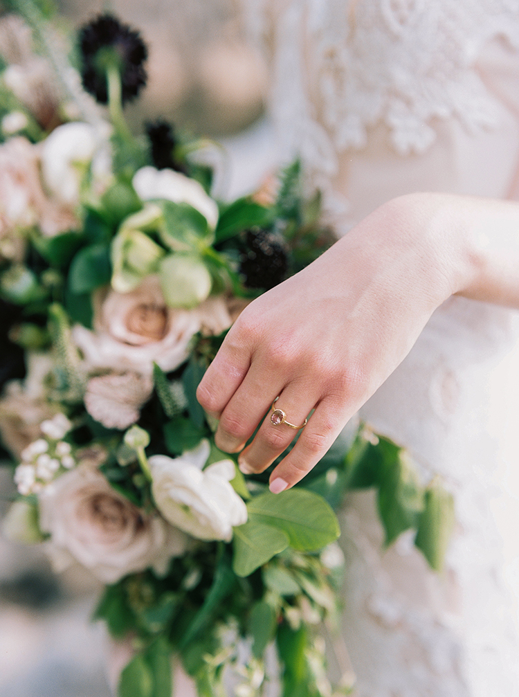 vintage inspired engagement rings - photo by Photographs by Czar Goss http://ruffledblog.com/romantic-bridal-inspiration-in-great-falls-virginia