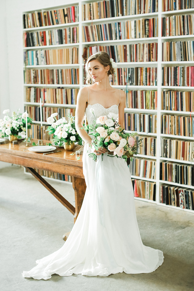 Bibliophile | Book Lover's Wedding at the Brooklyn Art Library | Bashful Captures