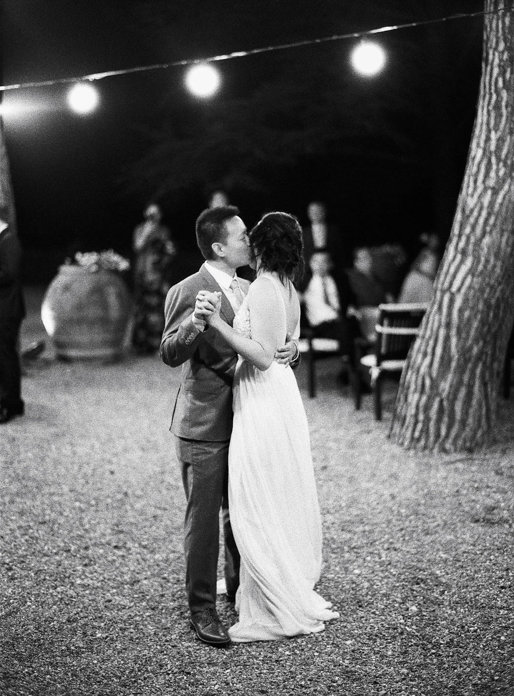 wedding first dances - photo by Katie Grant Photography http://ruffledblog.com/classically-beautiful-intimate-wedding-in-tuscany