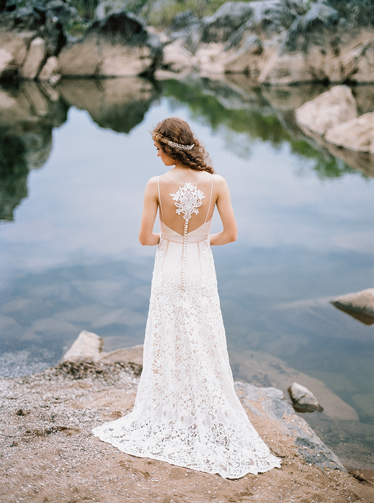 unique wedding dress backs - photo by Photographs by Czar Goss http://ruffledblog.com/romantic-bridal-inspiration-in-great-falls-virginia