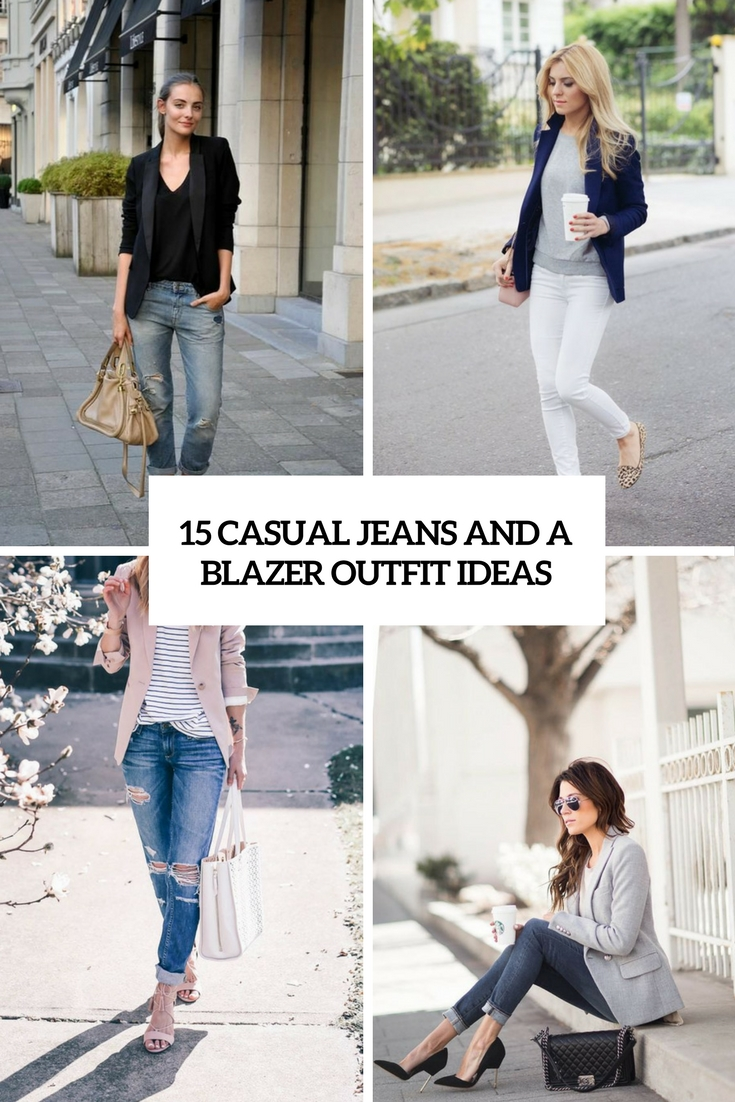 casual jeans and a blazer outfit ideas cover