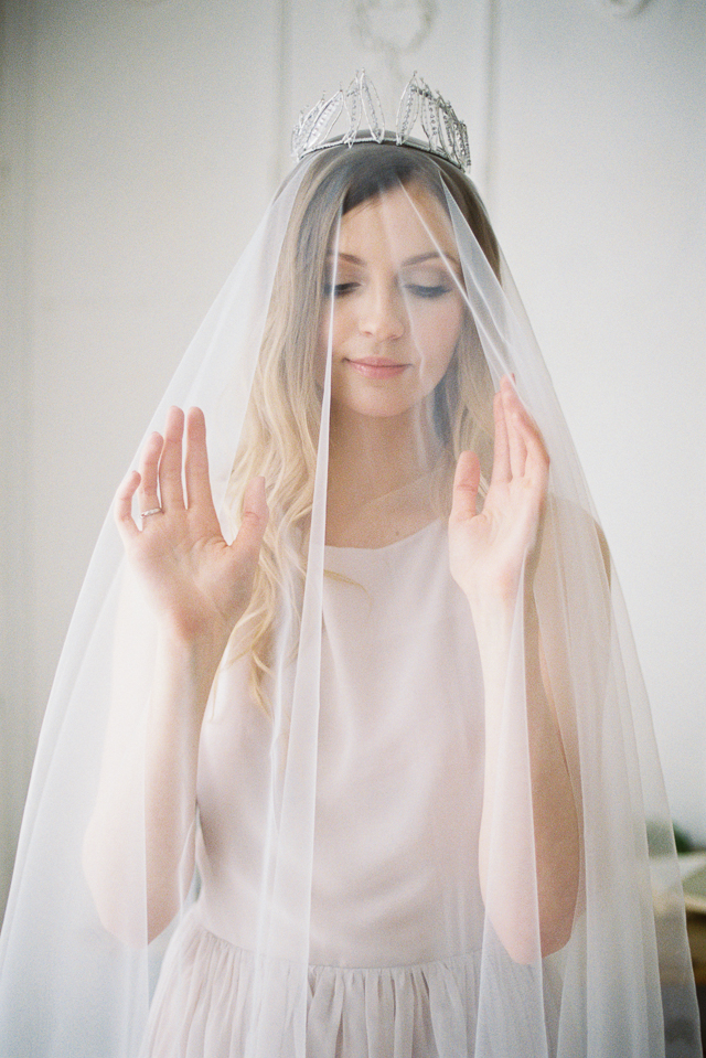 Veil with crown