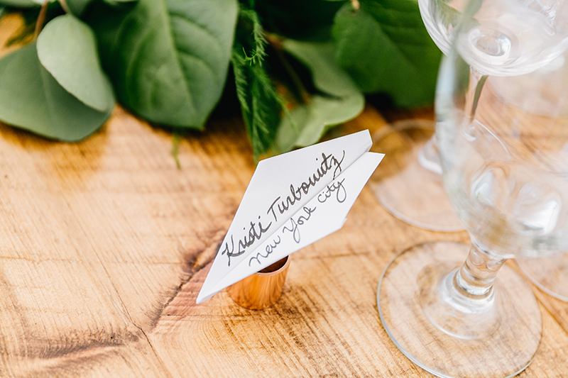 paper goods - photo by Emily Wren Photography http://ruffledblog.com/bright-beautiful-summer-wedding-with-geometric-accents