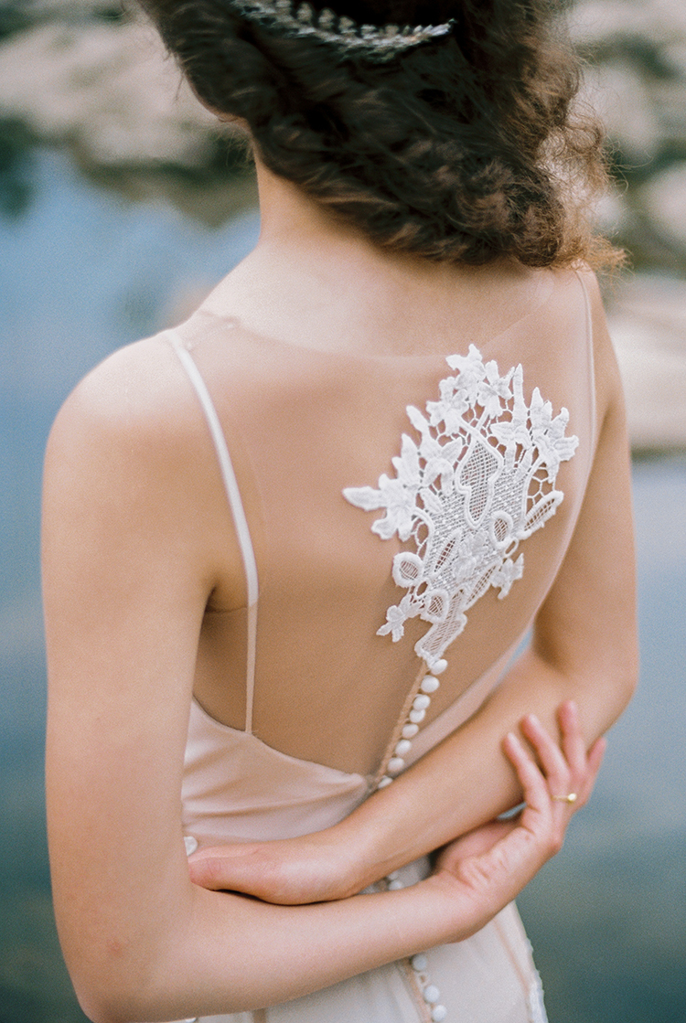 lace wedding gown embellishments - photo by Photographs by Czar Goss http://ruffledblog.com/romantic-bridal-inspiration-in-great-falls-virginia