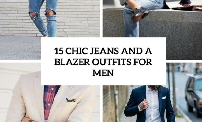 24fed2ba05 15 Chic Jeans And A Blazer Outfits For Men