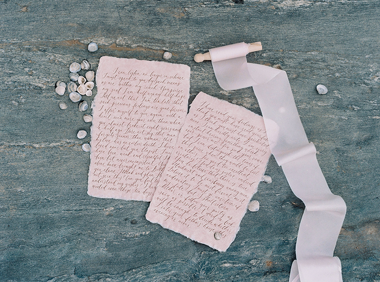 wedding vows on antique paper - photo by Photographs by Czar Goss http://ruffledblog.com/romantic-bridal-inspiration-in-great-falls-virginia